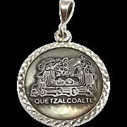 SALE .950 Silver Mexico Quetzalcoaltl Pendant TV-02 Mexico