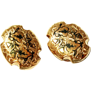 SALE Victorian Gold Filled Ornate Cufflinks
