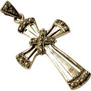 SALE Pretty Sterling Silver Cross Pendant 925