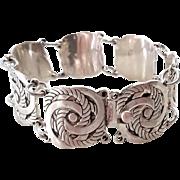 SALE Stunning Vintage Knot .925 Design Pattern Bracelet 47.2 Grams