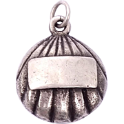 Vintage sterling silver sea shell necklace pendant