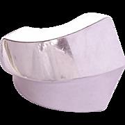 Huge Modernist Sterling Silver Ring Size 7 3/4