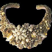 SALE Stunning Collage Bridal Collar Artisan Necklace