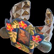 SALE Mexican Saint Artisan Cuff Bracelet