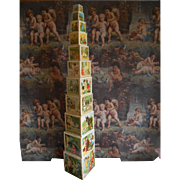 SOLD Amazing **All COMPLETE BLOCKS TOWER** Approx 1925**34,4 inches !!!