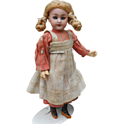 **Sweet Globe Baby cabinet size doll*** by Carl Hartmann, approx 1898, original clothes.