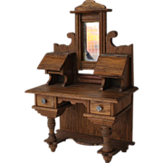 REDUCED Waltershausen Davenport Desk 1890 with mirror