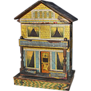 SOLD Bliss American lithographed paper on wood doll house late 19th