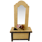 Pretty Antique French Doll House Mirror - Badeuille Style