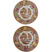 "SALE ""English Scenery"" Set of 4 Enoch Woods Bread and Butter plates- Woods and Sons"