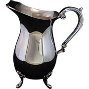 REDUCED Vintage Silver Plate Footed Pitcher- English Silver made in USA