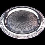 "SALE Oneida Silver Plate Vintage Tray 12.5"""