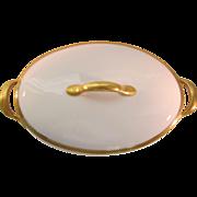 SALE Union Ceramique Limoges Oval Covered Vegetable with Gold Encrusted Laurel Trim