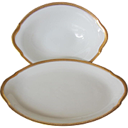 SALE Union Ceramique Oval Serving Bowl and Tray-Limoges