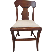 SALE Antique Hand Carved Wood Chair