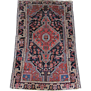 SALE Vintage Heriz Persian Rug- 4.7' x 6.6'ft
