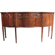 REDUCED Vintage Reproduction Wood Credenza with Inlay