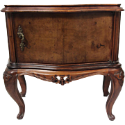 SALE Antique Burl Cabinet Side Table