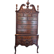 REDUCED Wright Co. Highboy with Queen Anne Ball and Claw Feet- 12 Drawers