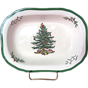 SALE Spode Christmas Tree Oval Vegetable Dish- 9.25""