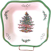 "SALE Spode Christmas Tree 9"" Square Salad Bowl"