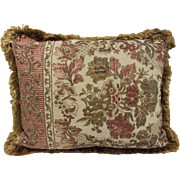 SALE Vintage Jacquard  Tapestry Pillow- 20x16""