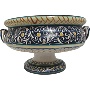 Large Italian Faience Footed Compote
