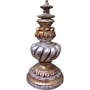 "REDUCED Italian Gold and Silver Large Decorative Finial-9.25""Tall"