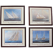 "Set of 4 ""Yachts of the America's Cup""- Special Editions by Tim Thompson"