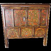 Hand Painted Tibetan Cabinet circa 1780-1800