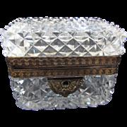 Antique Cut Crystal Casket