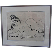 1957 Signed Jose de Creeft Nude Sketch-Framed