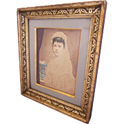 Victorian Hand Colored Portrait of Arabella McJunkin