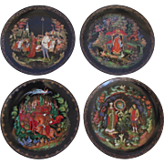 "SALE Set of 4 ""Legend of Russian Fairy Tales"" Collectors Plates by Tianex"