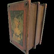 """Unique Vintage Decoupage """"Salon Scenes"""" Wooden Book Box"""