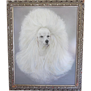 "Original Signed Pastel Painting ""Poodle""-1964"