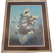 """Grand Bouquet"" Framed Aquatint Signed by Kaiko Moti"