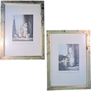 "SALE ""Cries-of-London"" and ""Milk Below Maids"" Set of 2 Framed Engravings--"