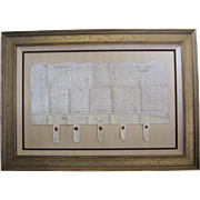SALE Indentured Servant Contract on Parchment