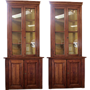 SALE Magnificent French Pine Corner Cabinet-Pair Available