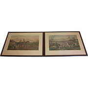 Fox Hunt Engravings by Sheldon Williams and E.G. Hester