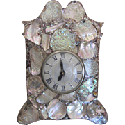 SALE Mother of Pearl Mantel Clock