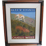 "SALE ""Hare & Hounds"" Painting for Pub in England"