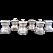 SALE 3 sets of Vintage Raimond Italian Pewter Salt and Pepper Shakers