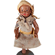 Wonderful little French celluloid black baby