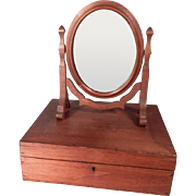 Wonderful old Cheval Style Mirror and Walnut box