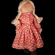 SOLD Interesting little mystery rag doll.