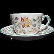 SALE Vintage Minton Haddon Hall B-1451 Cup and Saucer