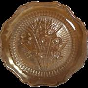SALE Vintage Jeannette Iris and Herringbone Plate