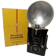 SALE Vintage Brownie Flash Six-20 with Flash Gun